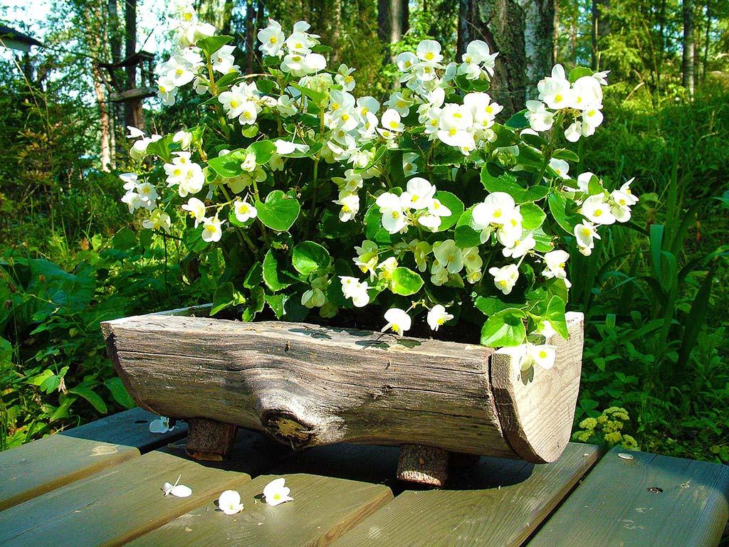 Blumenkasten aus holz